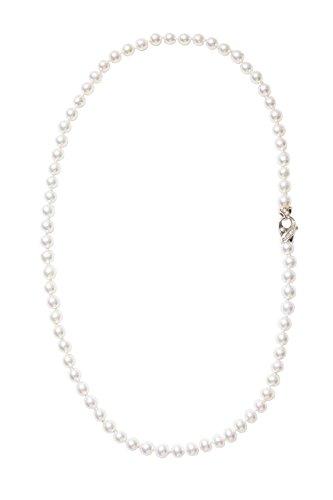 Gilu - Gioielli Collana Con Perle Naturali Coltivate Con Chiusura Oro 18kt Gr 2.70 E Brillanti Kt 0.09 G Vvs2