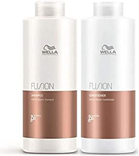 Wella Fusion Duo Pack, Intense Repair Shampoo 1L and Intense Repair Conditioner 1L