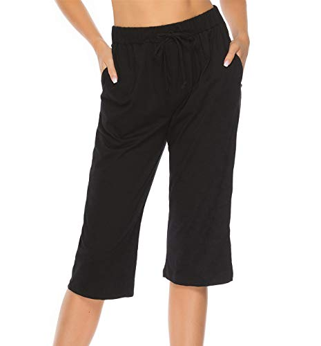 Vlazom Pantalones Cortos de Pijama Mujer Verano Pantalones de Ropa de Dormir