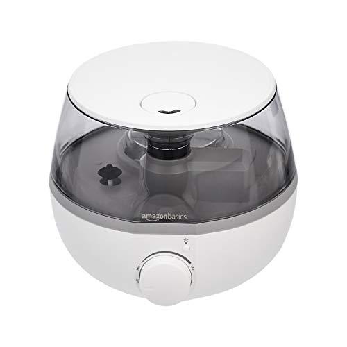 Amazon Basics - Humidificador con luz nocturna y difusor de aroma, de 1,5 l, negro