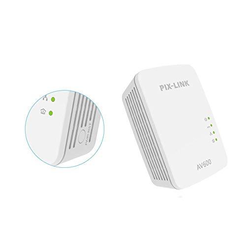 GUOJIAYI - Adattatore di rete Powerline PXLINK PL01A, 600 Mbps, adattatore PLC Ethernet AV600, compatibile con IPTV Homeplug