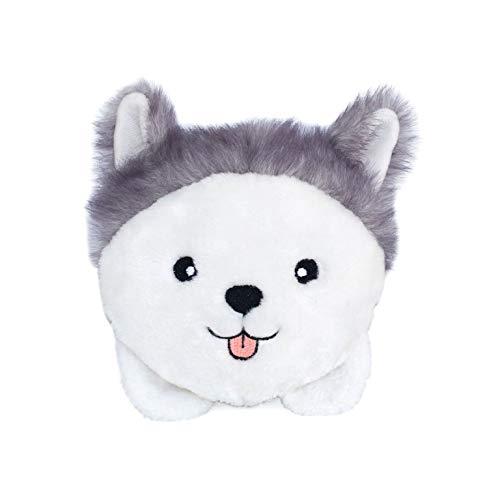 ZippyPaws - Bun Matching Dog Breed Plush Pillow Dog Toy - Husky