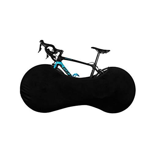 Umisu - Funda para rueda de bicicleta, funda de protección antipolvo, elástica, lavable, antiarañazos, plegable, bolsa de almacenamiento para bicicleta de interior, garaje de montaña, color negro