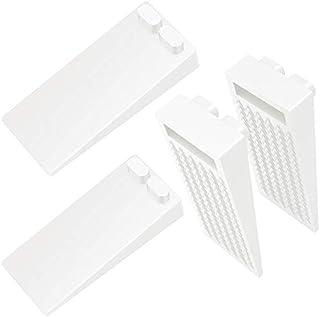 Junlic Rubberen deurstopper, set van 4, in hoogte verstelbaar, antislip, geschikt voor alle harde vloeren, deurbuffers, vl...