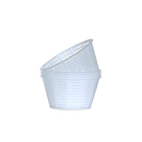 Cocinista Moldes de Rejilla para Queso Fresco y Ricotta - 12 x 6,3 cm x 5 uds