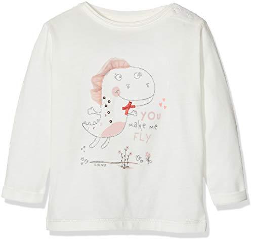 s.Oliver Baby-Mädchen 65.908.31.8816 Langarmshirt, Weiß (White 0210), (Herstellergröße: 86)
