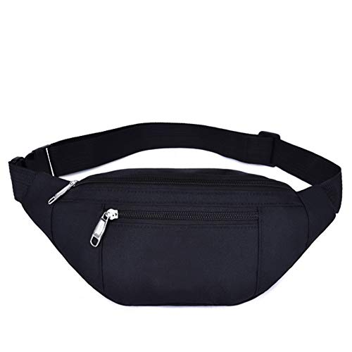 Waist Pack Bag for Men&Women - Waterproof Fanny Pack with Adjustable Strap for Workout Traveling Casual Running. ((004) Black)