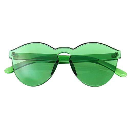 Emblem Eyewear - Mono Block Randlose PC Color Tone Objektiv Sonnenbrillen Brillen (Grün)