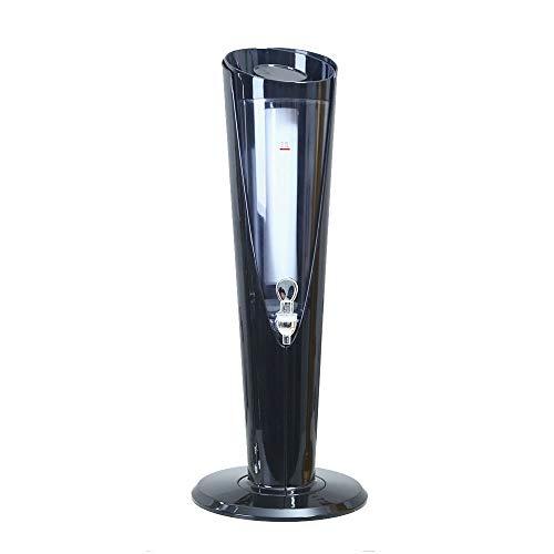 MOMIN Mini Conjunto de dispensadores de Cerveza artesana Dispensador de la Cerveza con el refrigerador del dispensador de la Bebida con Hielo Core Compartimiento de 65cm de Alta 3L para la Fiesta