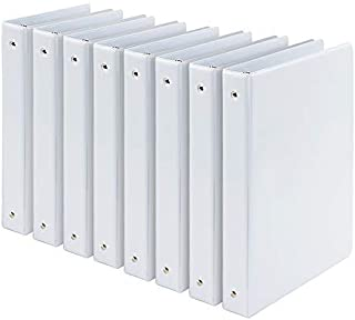 Comix 1 inch 3-Ring-Binder Durable Presentation White View Binders Holds 200 Sheets, 8pack (A2130-8WH)