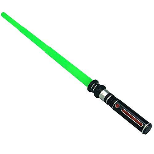 sookin Sable de Luz Juguete Espada Star Wars Sable De Luz ElectróNico Plegable Espada Luz con Efectos Sonido Multicolor Jedi Escalable Armas CumpleañOs Navidad Green