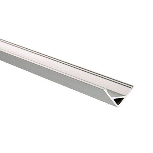 LEDKIA LIGHTING Perfil de Aluminio para Esquinas Triangular 1m para Tira LED hasta 10mm TransparenteTransparente