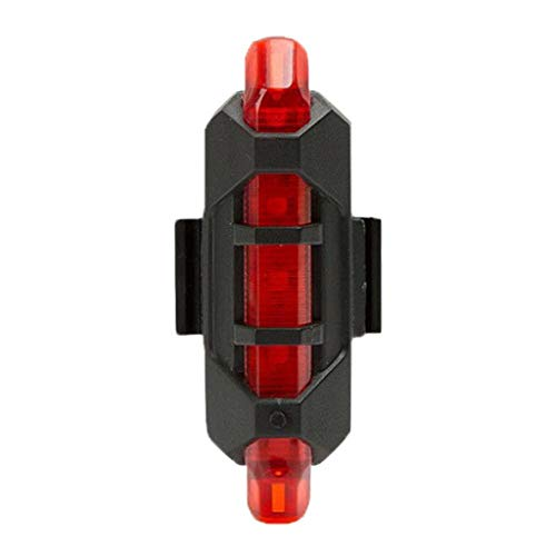 ReooLy luz de Bicicleta luz Trasera luz de Advertencia Delantera led USB Impermeable Equipo de equitación Accesorios de Bicicleta de montaña(Rojo)