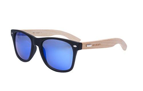 Ocean Sunglasses - lihue - lunettes de soleil en Bambou - Monture : Bambou - Verres : Revo Bleu (52001.3)