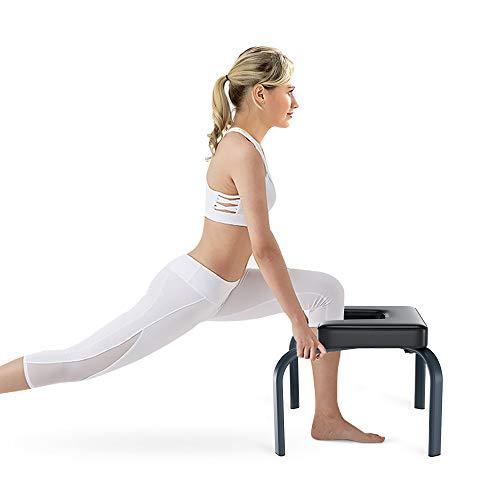 Yoleo Kopfstandhocker, Yoga Stuhl abnehmbar Hilfe Trainer Kopfüber 150kg Tragfähigkeit mit verdickte Kissen für Yoga-Übung Fitness