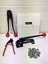 "Compact 3/4"" Steel Strapping Kit, 1,800 Tensile Strength"