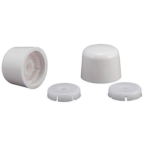 Plumb Pak PP835-30WHL Universal Round Toilet Push-On Bolt Caps, 1-7/8