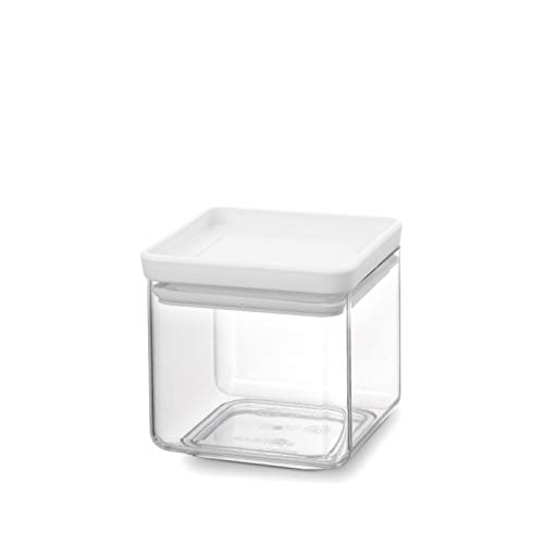 Brabantia Tasty+ Stackable Square Canister 0.7 L, Light Grey