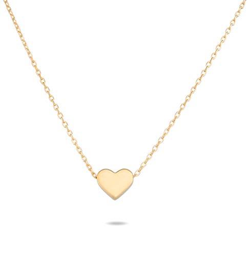 Nuoli® Kette Herz Gold aus 925 Sterling Silber (45 cm) Herzkette Gold