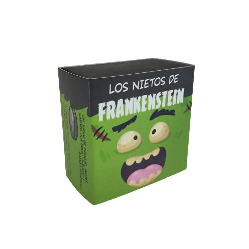 Troquel Games - Los Nietos de Frankenstein, Juego Familiar de Estrategia, Monta tu Monstruo con Dados y Fichas, de 2 a 6 Jugadores a Partir de 6 años - 8 x 8 x 4,5 cm