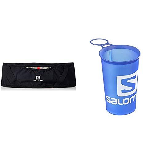 Salomon PULSE BELT Riñonera + Soft Cup Speed Vaso Botella Flexible, Unisex Adulto, Azul, 150 ml