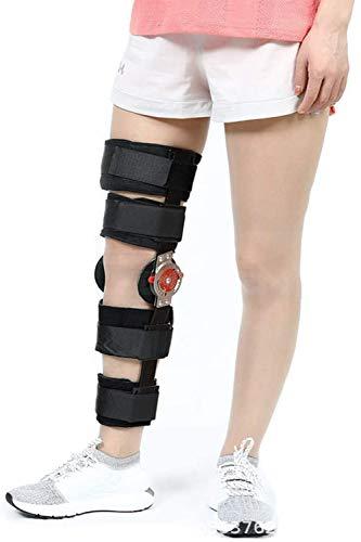 PHASFBJ Knieorthese mit ROM Verstellbare Kniestütze, Kniebandage Knieschoner für ACL Ligament Sportverletzungen Osteoarthritis Meniskusrissen Orthopädie für Bänderverletzungen,S