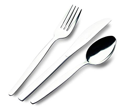Grunwerg Economy Collection Table Forks, 18/0 Stainless Steel, 999P Plain Pattern Cutlery – Box of 12