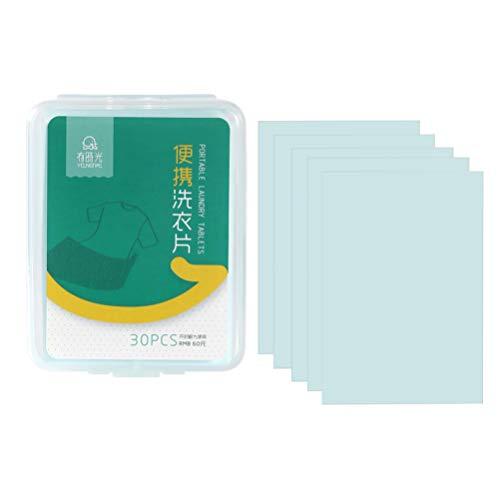 Exceart Tragbare Wäsche Liefert Tuch Waschreiniger Waschmittel Weichspüler für Maschinelle Handwäsche 60St