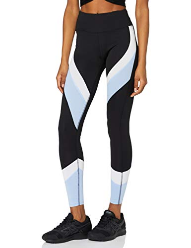 Aurique Leggings deportivos para Mujer, Negro (Black/Serenity/White), L
