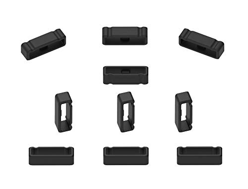 Ruentech Verschlussring Kompatibel mit Garmin Fenix 3/Fenix 3 HR Sportuhr Armband, Uhrenarmbänder Silikon Sichere Schleife für Garmin Fenix 3/Fenix 3 Zubehör Armband (10-pcs)