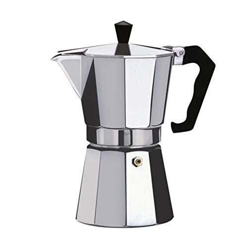 Cafetera Aluminio Mocha Espresso Percolador Cafetera Cafetera Moka Pot (Plata 12 Tazas)