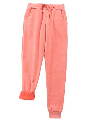 Great Deal! Andongnywell Womens Warm Sherpa Lined Sweatpants Drawstring Joggers Fleece Pants Trouser...