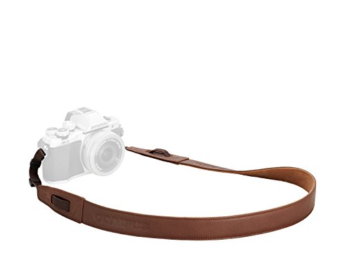 Olympus-Tracolla in pelle per macchina fotografica, colore: marrone