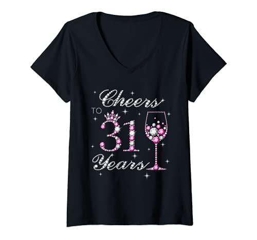 Mujer Disfraz de 31 aos de cumpleaos Camiseta Cuello V