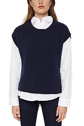 ESPRIT Damen 081EE1I328 Pullover, 400/NAVY, S