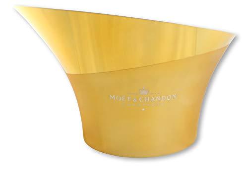 Moët & Chandon flessenkoeler glanzend goud zilver champagne koeler ijs emmer vasque