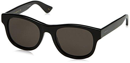 Gucci GG0003S 001 Occhiali da sole, Nero (Black/Grey), 52 Unisex-Adulto