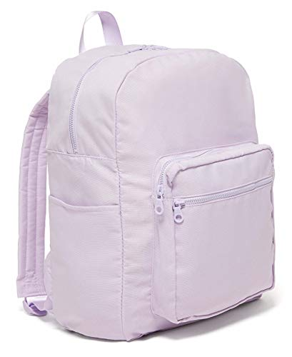 ban.do Go-Go Backpack with Computer Storage Sleeve for School/Work, Lightweight Computer Bag Fits Up to 15 inch Laptop, Lilac