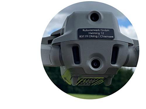 Roboterwerk Drohnen Kennzeichen Hinten für Mavic Air 2 Drohnen Alu Schwarz oder Alu Natur