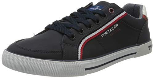 TOM TAILOR Herren 8080809 Sneaker, Blau (Navy 00003), 43 EU