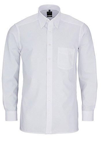 OLYMP Herren Hemd Modern Fit Langarm, 40, 01 Wei