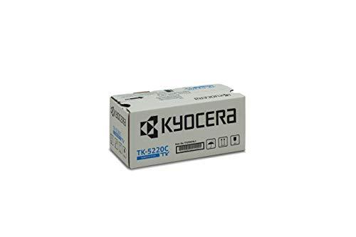 Kyocera TK-5220C Original Toner-Kartusche Cyan 1T02R9CNL1. Für ECOSYS M5521cdn, ECOSYS M5521cdw, ECOSYS P5021cdn, ECOSYS P5021cdw. Amazon Dash Replanishment-Kompatibel