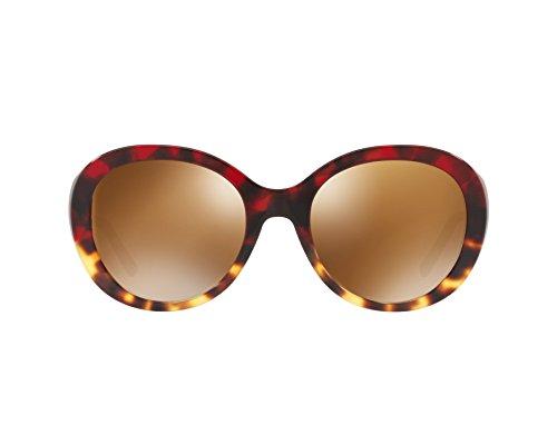 BURBERRY 0BE4191 36646H 57 Occhiali da Sole, Rosso (Red Havana/Light Havana/Brownmirrorgold), Donna