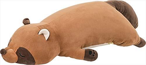 りぶはあと 抱き枕 プレミアムねむねむアニマルズ タヌキのぽんきち Lサイズ(全長約73cm) ふわふわ もちもち 78210-31