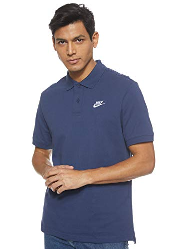 NIKE M NSW CE Polo Matchup Pq Camiseta, Hombre, Midnight Navy/(White)
