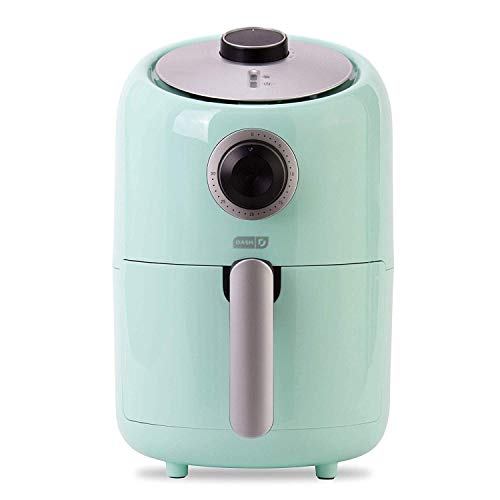 DASH DCAF150GBAQ02 Compact Air Fryer 1.2 L Electric Air Fryer Oven Cooker with Temperature Control, Aqua