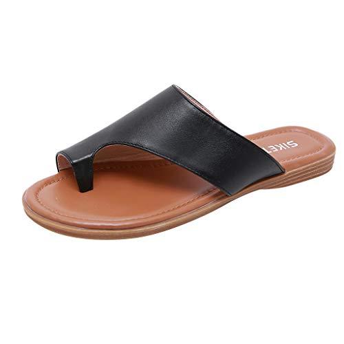 KERULA Sandalen Damen Sommer, Flache Flip Flops Damenschuhe Sommerschuhe Shoes Strandschuhe Sandaletten Schuhe