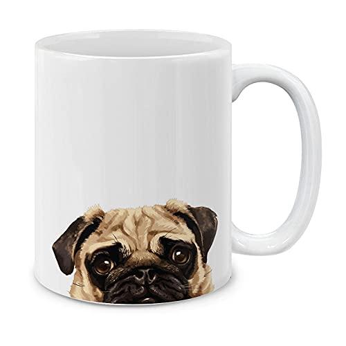 MUGBREW Pug Puppy Dog Ceramic Coffee Mug Tea Cup, 11 OZ