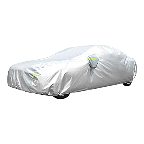 Car Cover, GORDITA Car Covers Waterproof All Weather Snowproof Windproof Scratch Resistant Outdoor UV Protection with 6 Reflective Strips, Universal...
