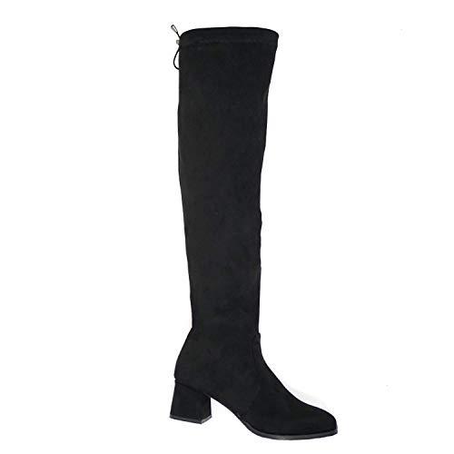 Çancı Botas de mujer por encima de la rodilla con tacón en...